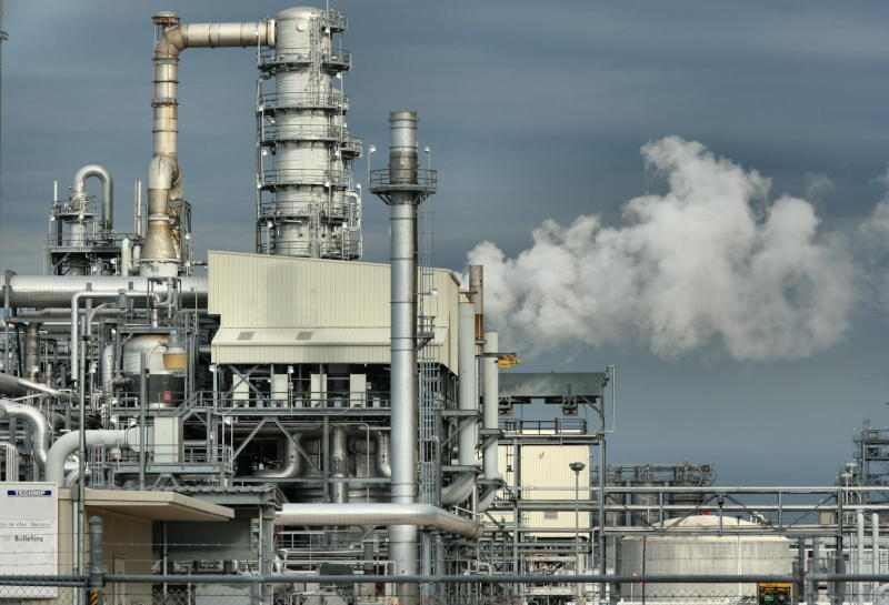 Petrochemical industry with smoking pipes (waste heat)